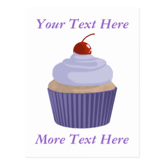 Cupcake-Lilac and Purple Post Cards