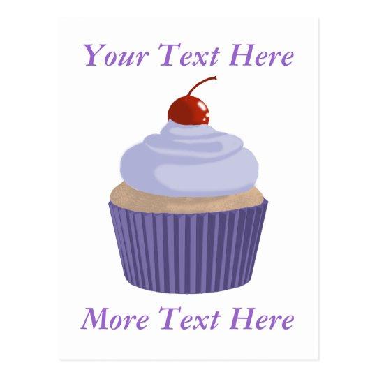 Cupcake-Lilac and Purple Postcard