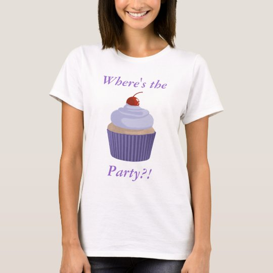 Cupcake-Lilac and Purple T-Shirt