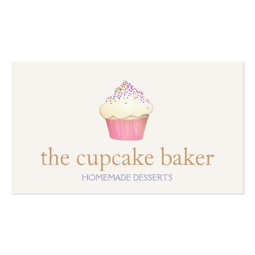 Cupcake Logo Bakery Chef Catering Business Card Template