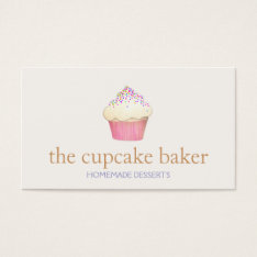 Cupcake Logo Bakery Chef Catering Business Card at Zazzle