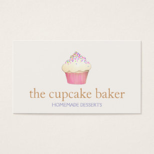 Cupcake business cards 3900 cupcake business card templates cupcake logo bakery chef catering business card wajeb Images