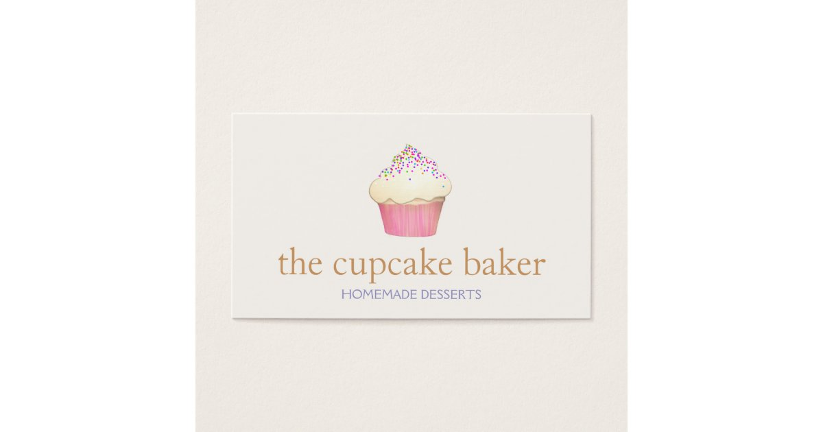 Cupcake Logo Bakery Chef Catering Business Card | Zazzle.com