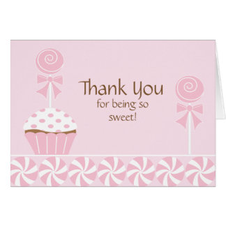 Cupcake lollipops Thank You Note Cards