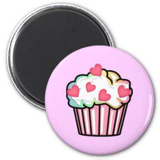 Cupcake Love 2 Inch Round Magnet