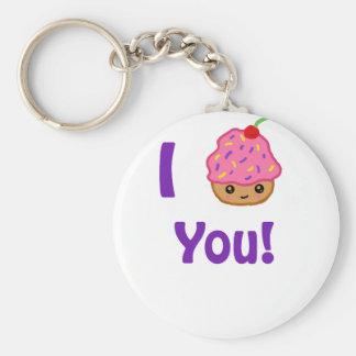 Cupcake Love Basic Round Button Keychain