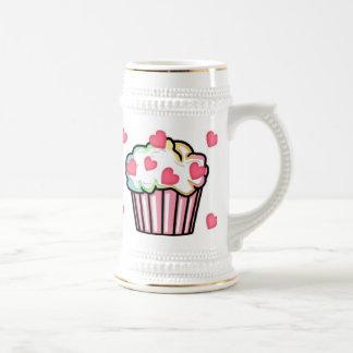 Cupcake Love Beer Stein