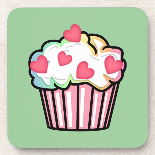 Cupcake Love Beverage Coaster
