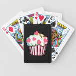 Cupcake Love Bicycle Playing Cards