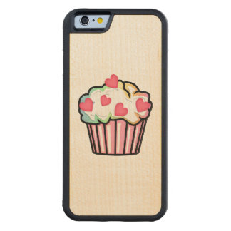 Cupcake Love Carved Maple iPhone 6 Bumper Case