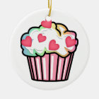 Cupcake Love Ceramic Ornament