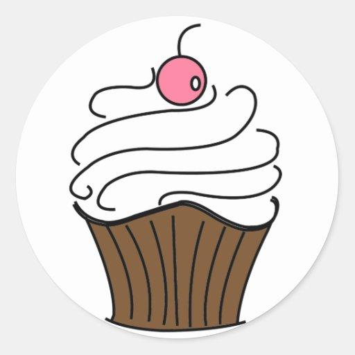Cupcake Love! Classic Round Sticker