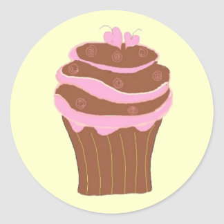 Cupcake Love Classic Round Sticker