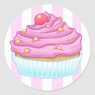 Cupcake Love Classic Round Sticker