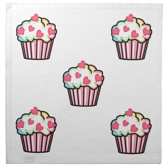 Cupcake Love Cloth Napkin