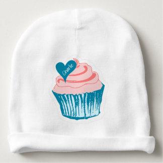 Cupcake Love custom name baby hat