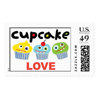 Cupcake Love cute cupcakes postage stamps