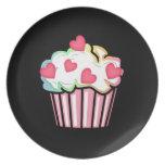 Cupcake Love Melamine Plate