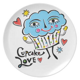 Cupcake Love  - melamine plate