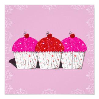 Cupcake Love on Pink Notecards