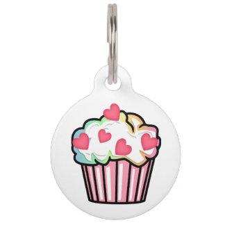 Cupcake Love Pet Name Tag