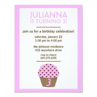 Cupcake Love (Pink) | Girl's Birthday Invitation