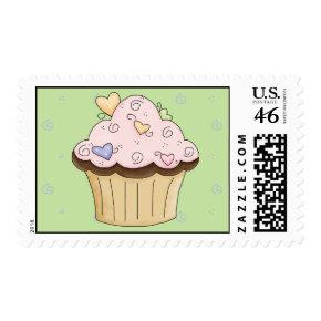 cupcake love postage stamp