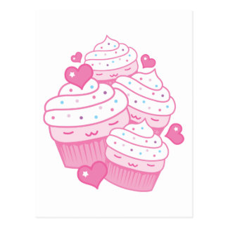 cupcake love postcard