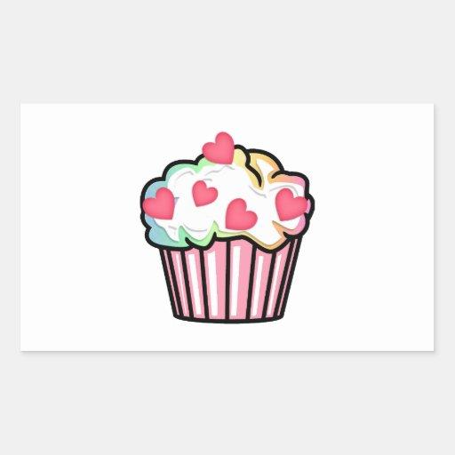Cupcake Love Rectangle Stickers