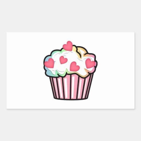 Cupcake Love Rectangular Sticker