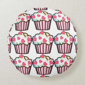 Cupcake Love Round Pillow