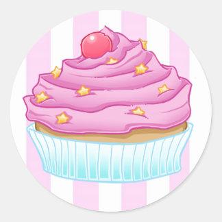 Cupcake Love Round Sticker