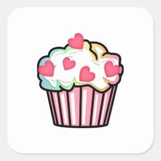 Cupcake Love Square Sticker