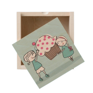 Cupcake Love Wooden Keepsake Box