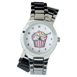 Cupcake Love Personalized Watches