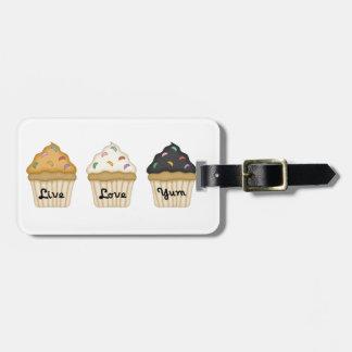 Cupcake Love Yum Luggage Tag