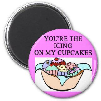 CUPCAKE lover 2 Inch Round Magnet