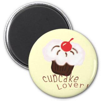 Cupcake Lover! 2 Inch Round Magnet
