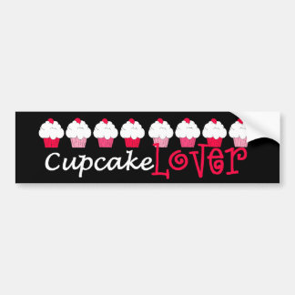 """Cupcake Lover"" Bumper Sticker"
