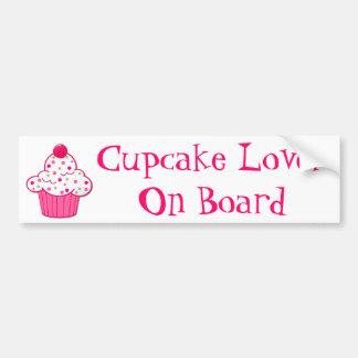 Cupcake Lover Bumper Sticker Car Bumper Sticker