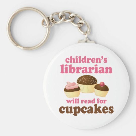 Cupcake Lover Childrens Librarian Gift Keychain