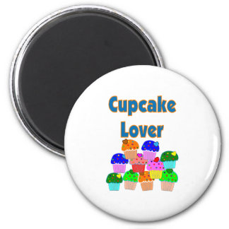 """""""Cupcake Lover""""---Mound of adorable cupcakes 2 Inch Round Magnet"""