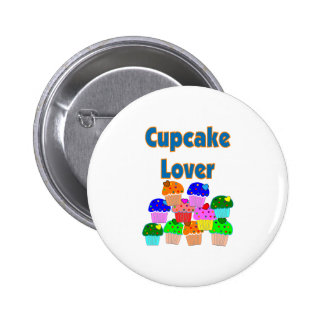 """""""Cupcake Lover""""---Mound of Bright colored cupcakes 2 Inch Round Button"""