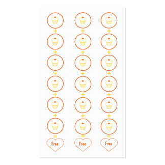 Cupcake Loyalty Business Card Punch Card