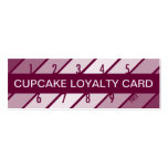 cupcake loyalty card (retrograde) business card template