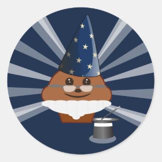 Cupcake Magician Classic Round Sticker