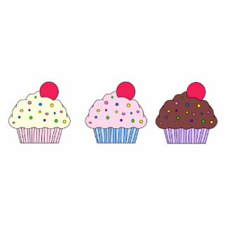 Cupcake Magnet Acrylic Cut Outs