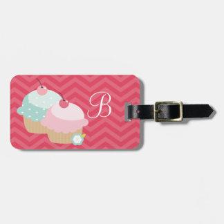 Cupcake Mania Personalized Bag Tags