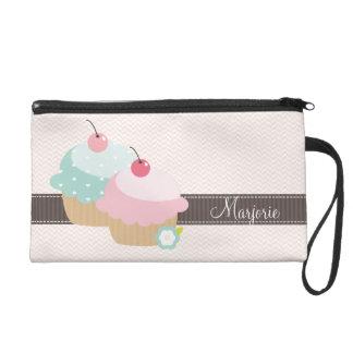 Cupcake Mania Personalized Wristlet