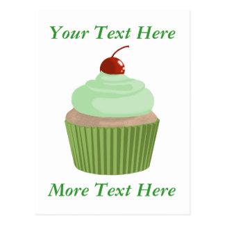 Cupcake-Mint and Green Postcard